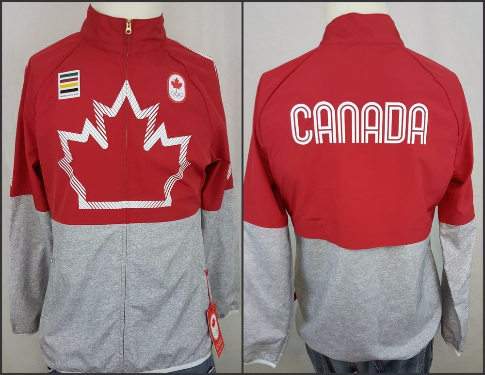 New Hudson's Bay Team Canada Olympic Women's Canadian Windbreaker ...