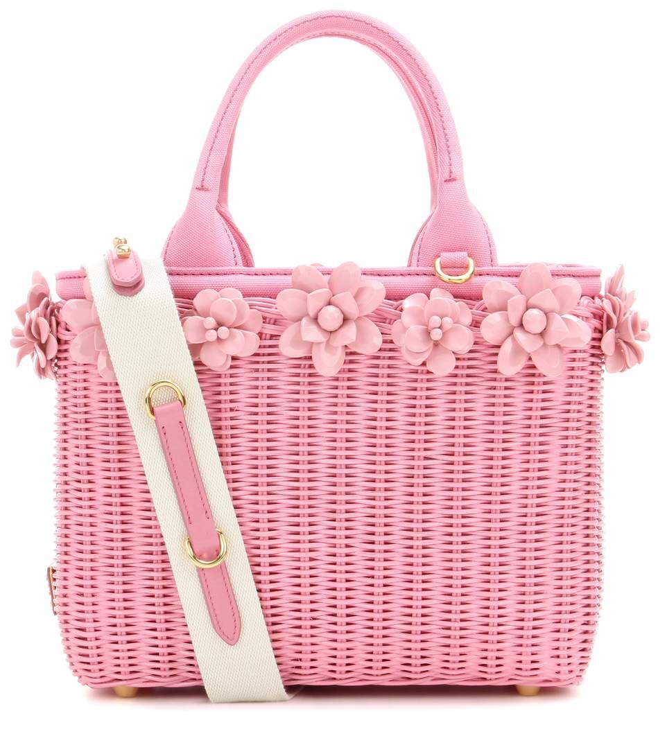 2384d66229 Prada - Embellished wicker basket