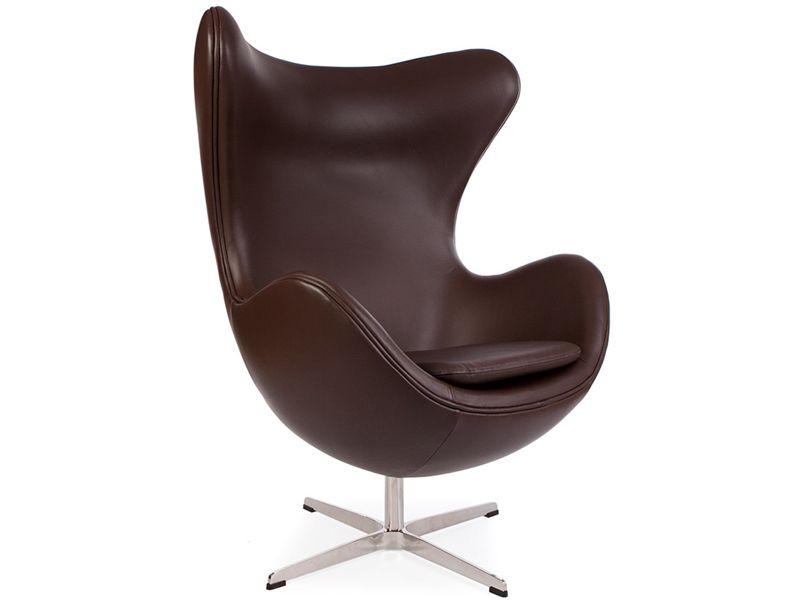 fauteuil egg arne jacobsen marron - Fauteuil Egg Jacobsen