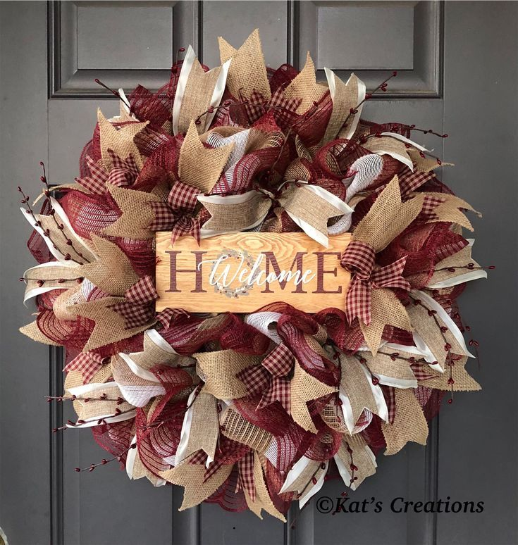 Photo of Original rustic welcome home wreath