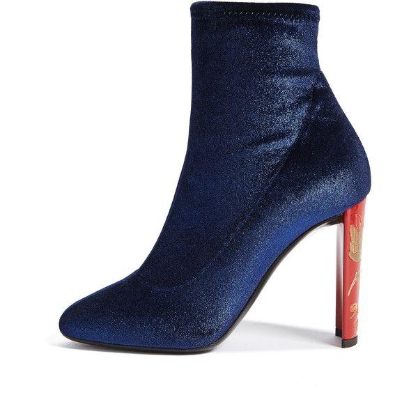 Giuseppe Zanotti Design velvet ankle boots - Blue farfetch neri Velluto Comprar Barato Explorar EPOucc3A1B