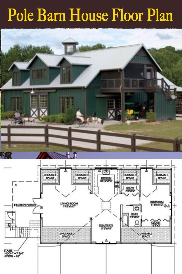 Pole Barn House Floor Plan #polebarnhouses Pole barn house plan and ideas  #polebarn #polebarnfloorplan #floorplan #polebarnhouses