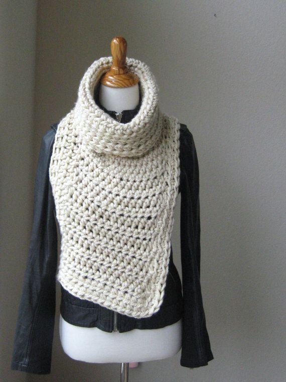 HUNTRESS VEST COWL Crossbody Cowl Chunky Knit Crochet Vest ...