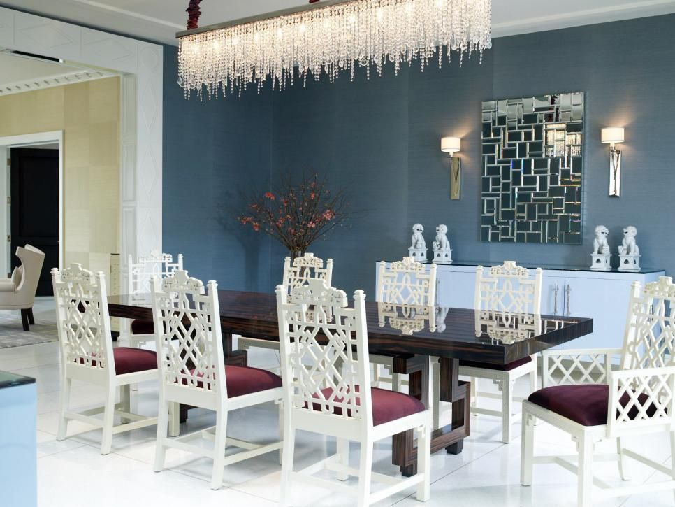 Crystal Chandeliers For Dining Room Extraordinary Every Detail Of This Dining Room Speaks Of Glamour From The Design Decoration