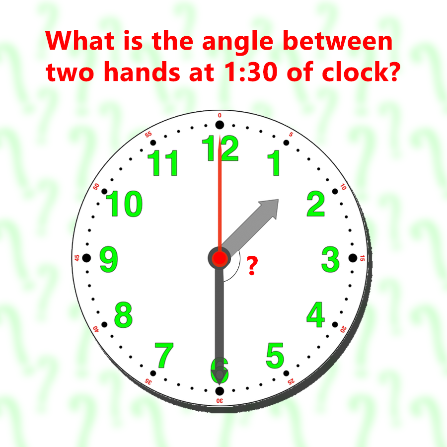 It S Riddle Time What Is The Angle Between Two Arms At 1 30 Of The Clock Gear Up Your Brain And Start Churning Comment Your An Clock Party Items Clock Gears