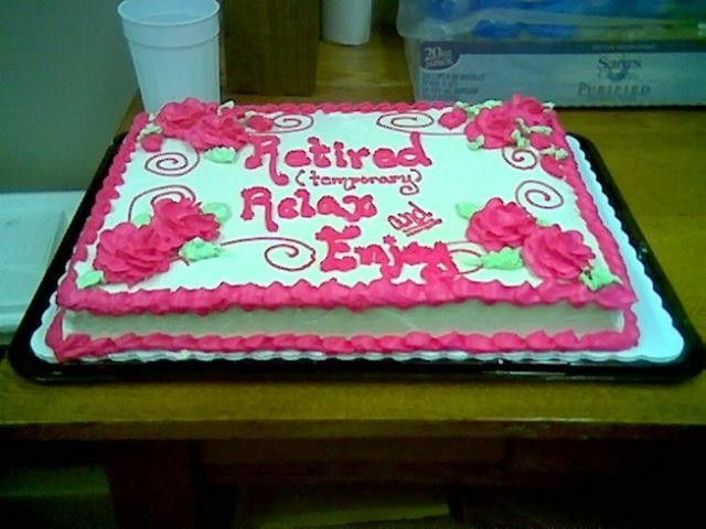 Retirement Cake Wording Cake Photo Ideas Marvelous