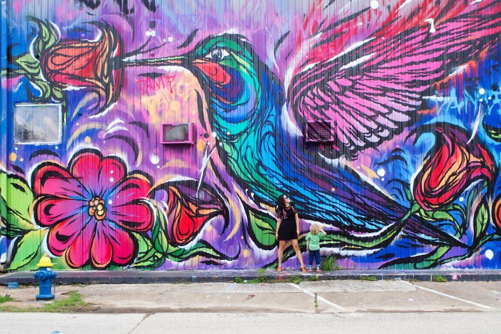 Hummingbird Mural Frenetic Theater 5102 Navigation Blvd Houston