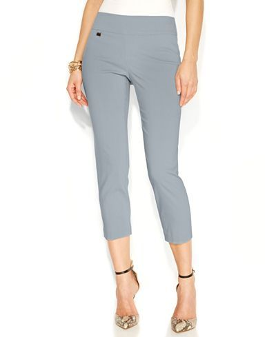 Alfani Petite Tummy-Control Pull-On Capri Pants, Only at Macy's ...