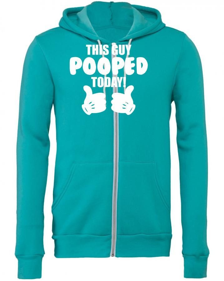 this guy pooped today 3 Zipper Hoodie