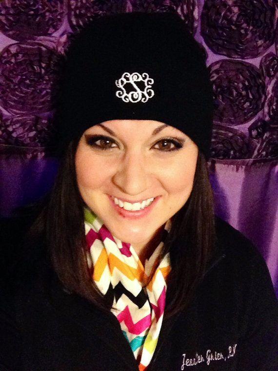 Personalized   Monogrammed Beanie Hats   Earwarmer Headbands Women ... b9e653c4a15