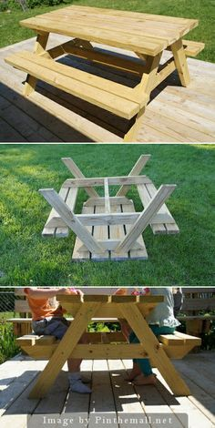 Enjoyable Diy Kids Sized Picnic Table Building Plans Diy Picnic Machost Co Dining Chair Design Ideas Machostcouk