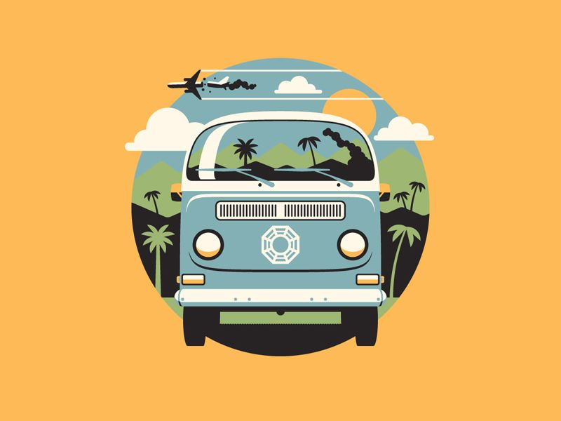 4 8 15 16 23 42 With Images Bus Art Icon Illustration Dkng