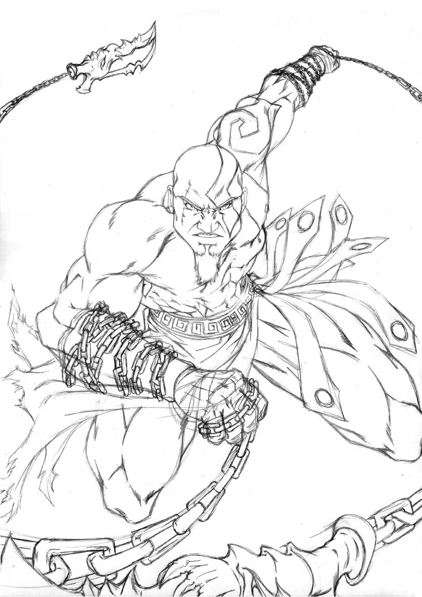 God Of War Printable Coloring Pages Projects To Try Masks Sonic The