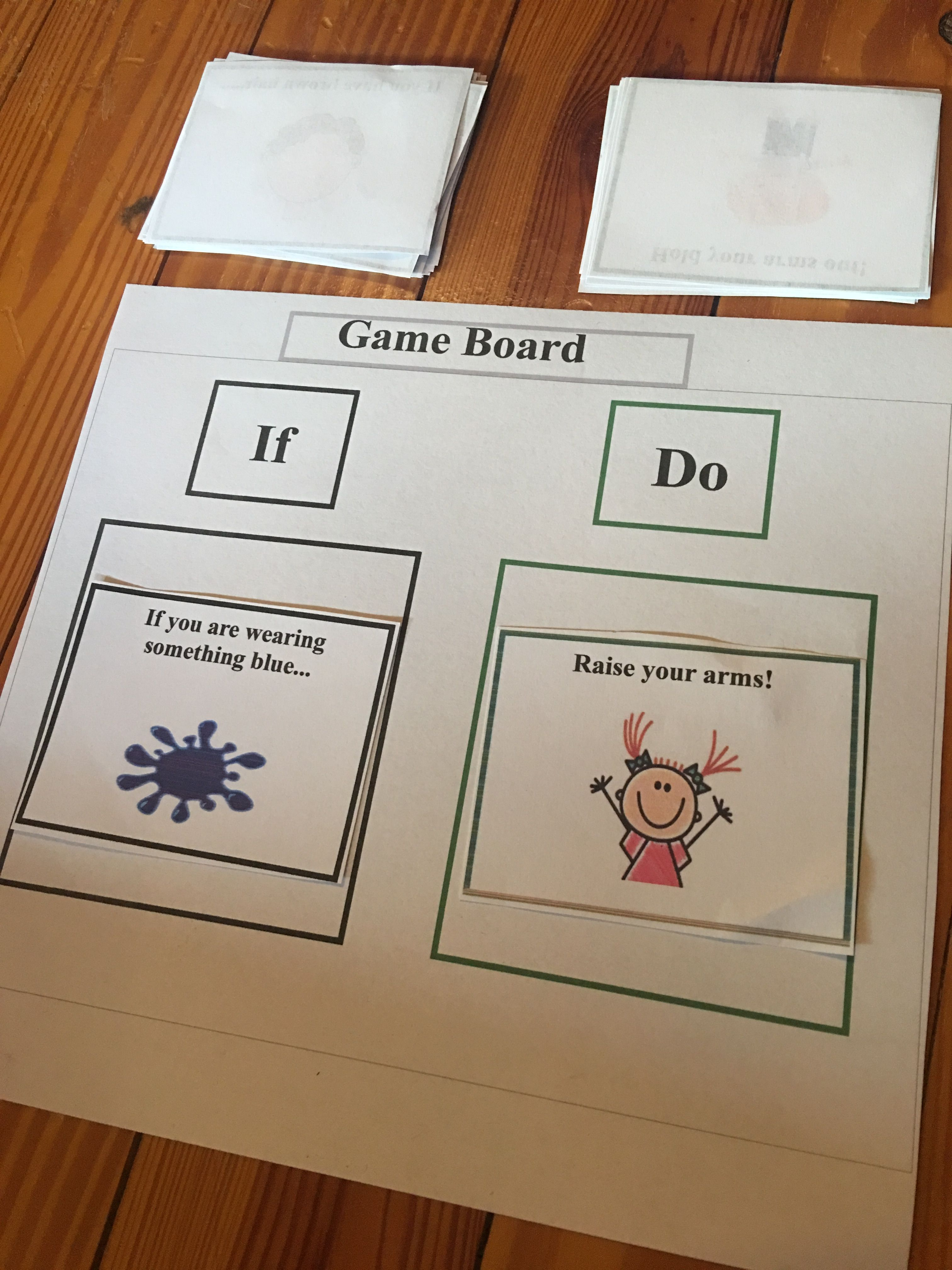 Conditional Directions Game From The Aba Treasure Chest A