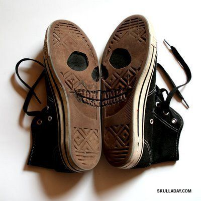 Walking with skull