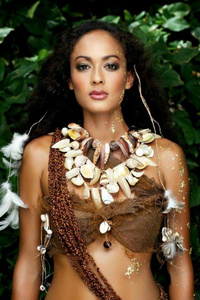 Natural  Tahitian Costumes, Tahitian Dance, Polynesian Dance-4157