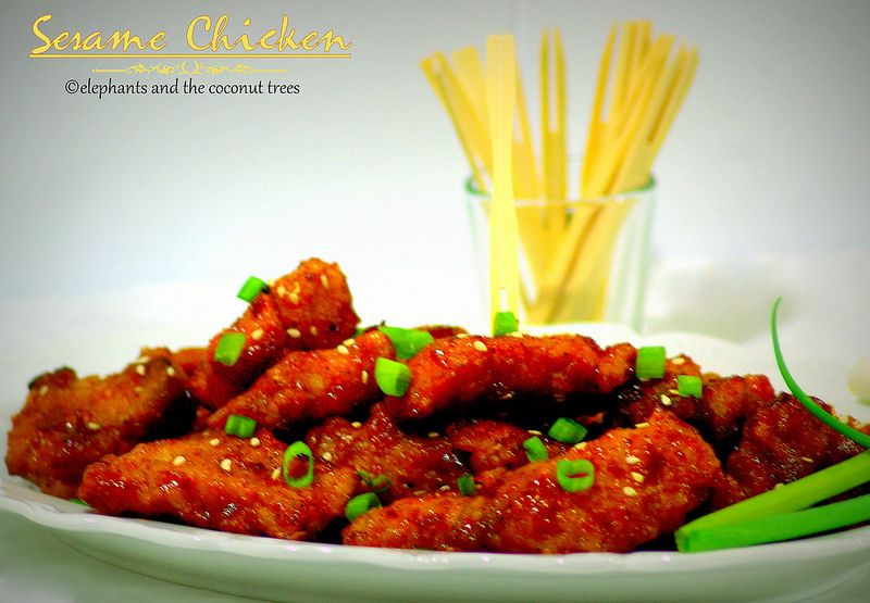 elephants and the coconut trees: Sesame Chicken / Sweet and sour sesame chicken