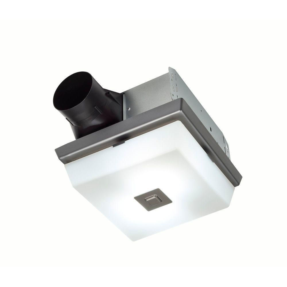 NuTone ( NO COVER) InVent Decorative Polished Steel 70 CFM ...