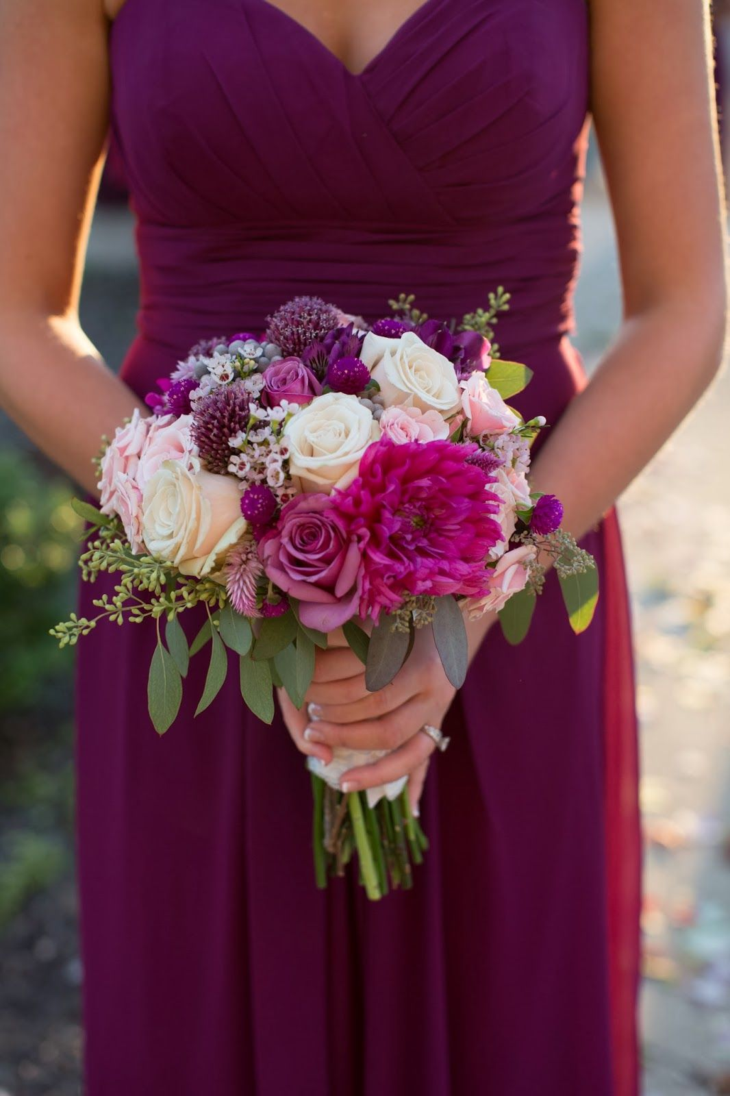 Sangria Wedding Bouquet By Holly With Posy Floral Designs Photo Mandy Paige