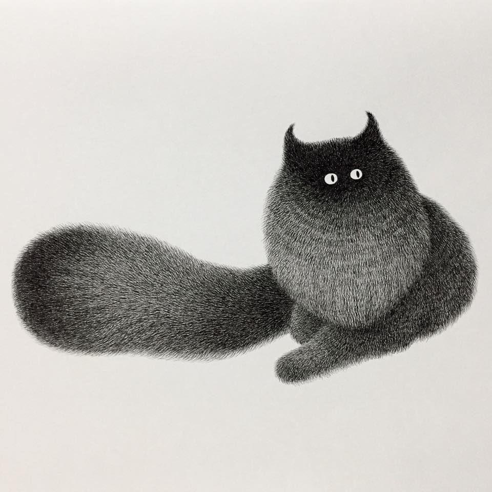 Днем, картинки для срисовки смешные котики гелевой ручкой