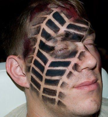 tire tread halloween makeup - Google Search Halloween Makeup #halloween #makeup