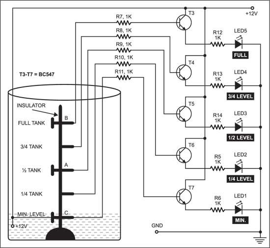 Automatic Water Pump Controller Electronic schematics