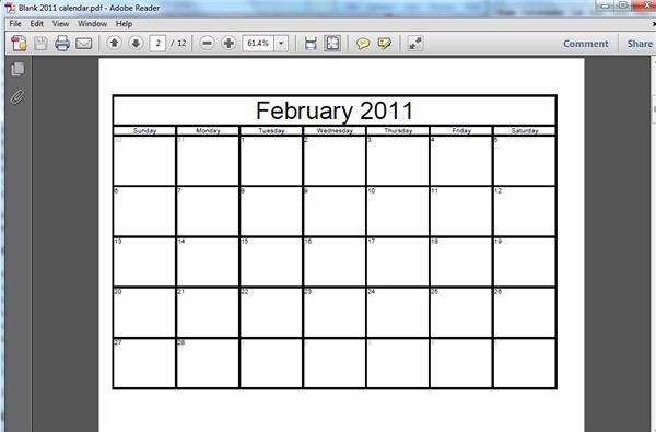 Tutorial On How To Make A Free Printable Blank Calendar  Tutorials