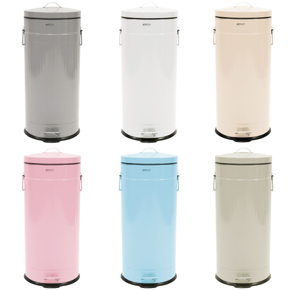 Charles Bentley 30l Retro Kitchen Bin Various Colours Available