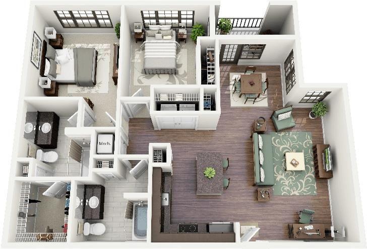2 Bedroom Apartment House Plans 2 Bedroom Apartment Floor Plan