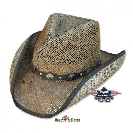 El sombrero unisex western Key Largo es un modelo fabricado en fibra de  palmera lo que 606f429abd4