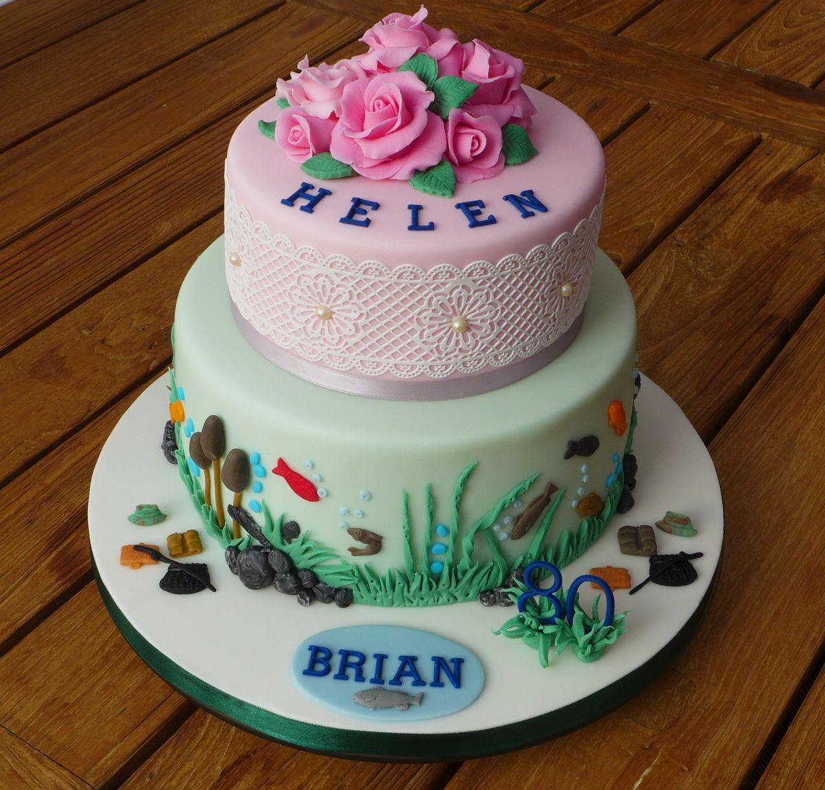 Husband Wife Birthday Cake