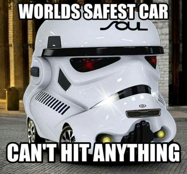 Ah But This Stormtrooper Car Is Liable To Get Totaled By A Pedestrian A Block Away That Just Happens To Look At It Sideways Star Wars Nerd Car Star Wars Geek