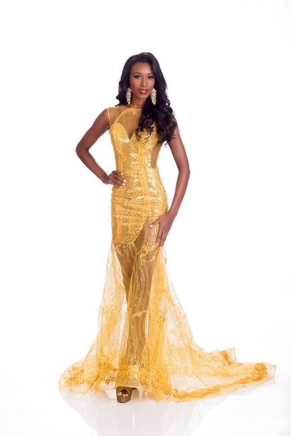 Christie Desir Miss Haïti in evening dress for Miss Universe.