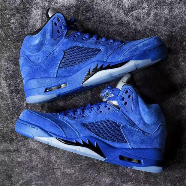 Air Jordan 5 Vue De Dessus En Daim Bleu offre pas cher jeu eastbay vente en ligne la sortie dernière Offre magasin rabais rDfbUoskw