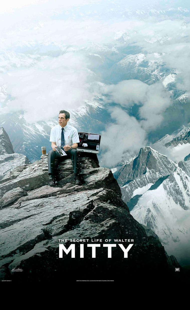The Secret Life Of Walter Mitty Beautiful Landscapes And Soundtrack I Love Love Love This Movie 영화 포스터 사진 포스터
