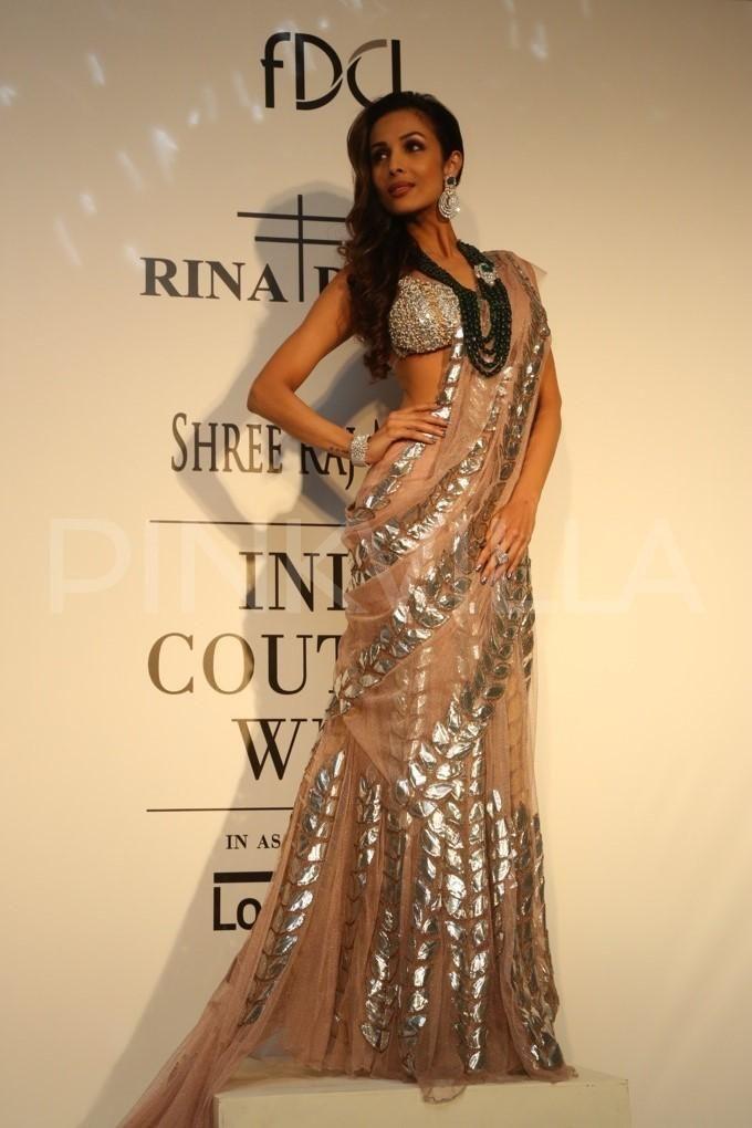 India Couture Week: Malaika Arora Khan, Nimrat Kaur walk for Rina Dhaka   PINKVILLA
