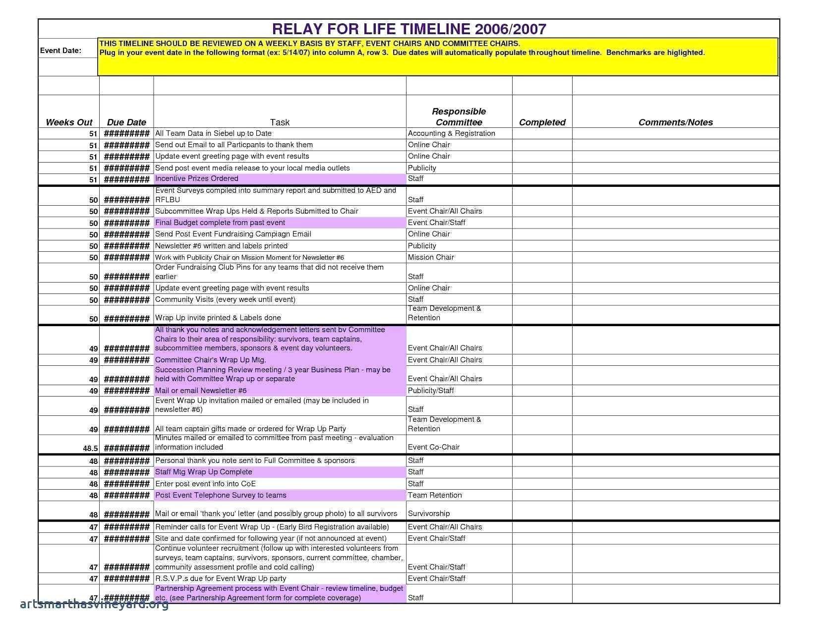New Sample Project Timeline In Excel Event Planning Timeline