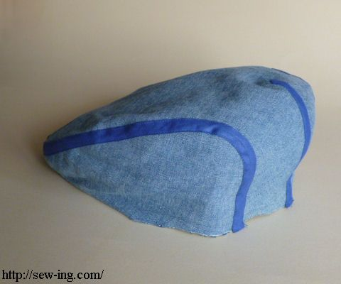 Flat hat newsboy hat gatsby hat free sewing tutorial with pattern ...