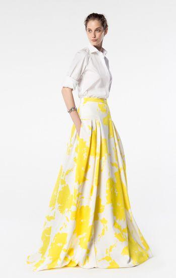 6e09083720124 CH Carolina Herrera Spring 2016 Waist Skirt
