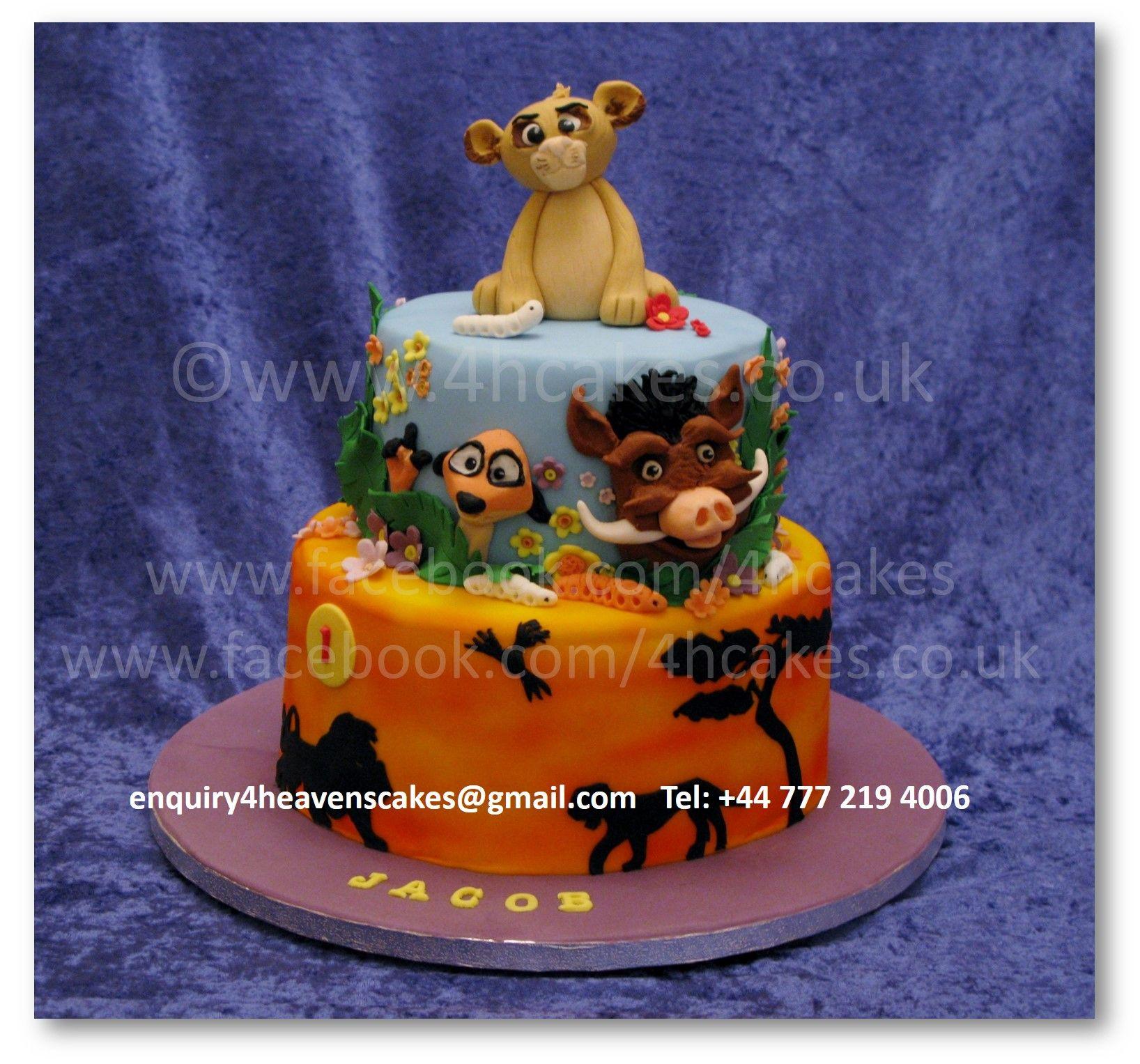 For Heavens Cakes 4hcakes Scotland Lion King Themed birthday