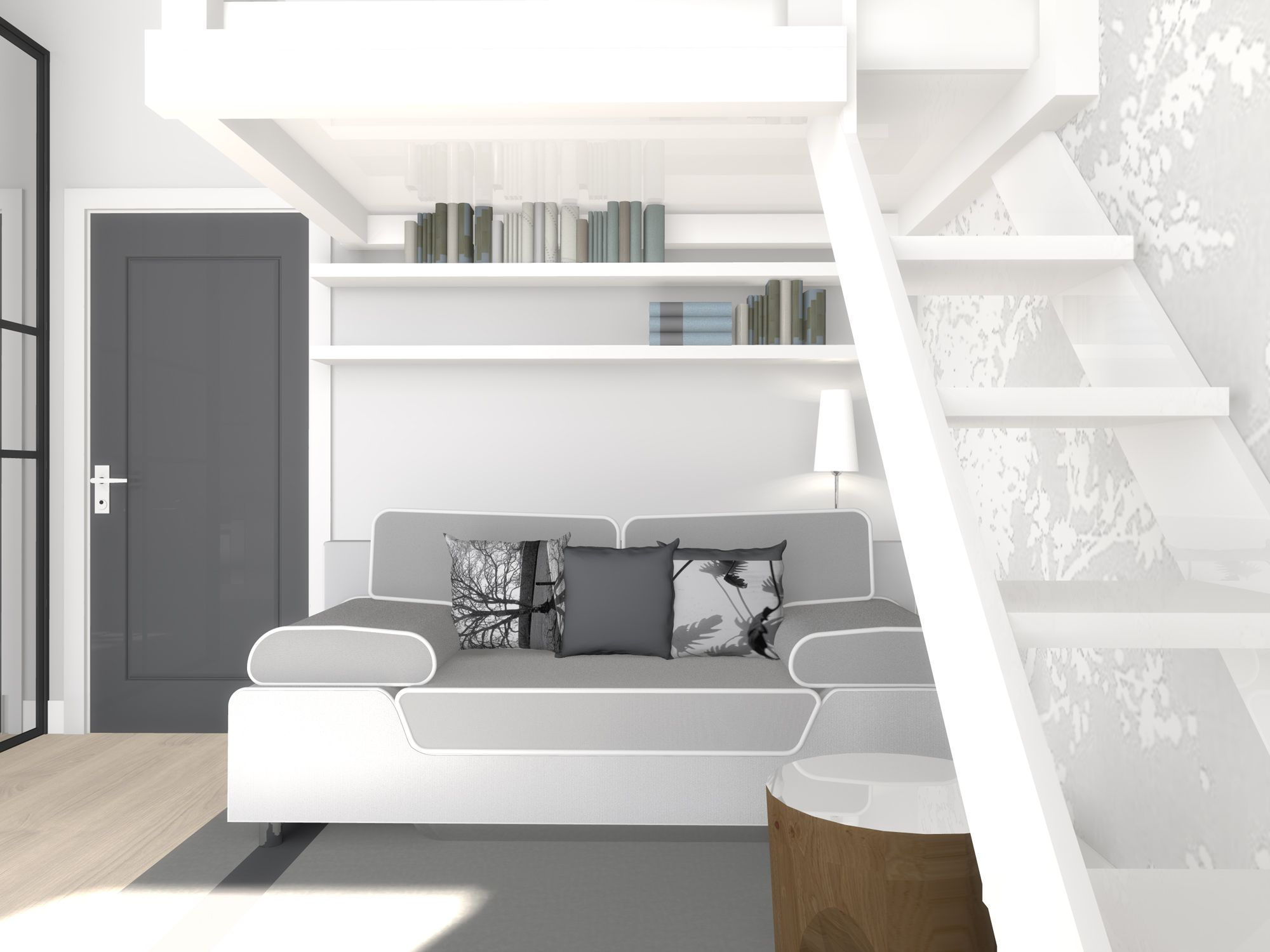 All in one 22m2 apartment for rent interior design - Rental apartment interior design ...