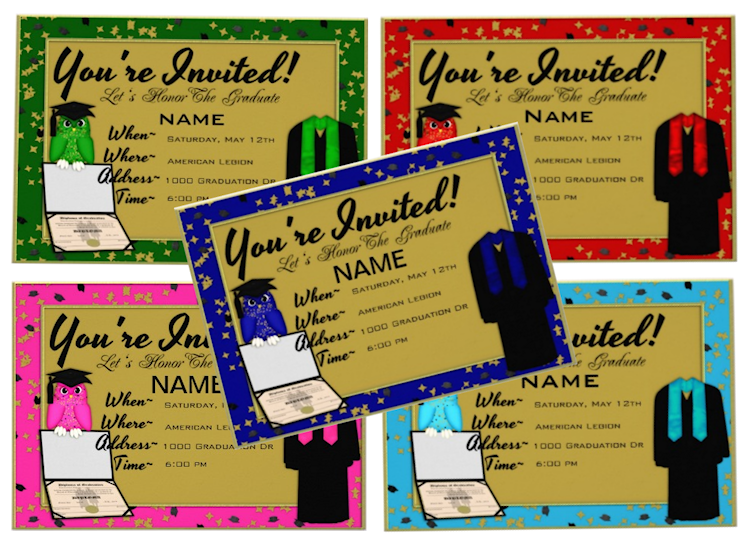 Graduation Gown and Stole Invitations new in store now zazzle – Zazzle Graduation Invitations