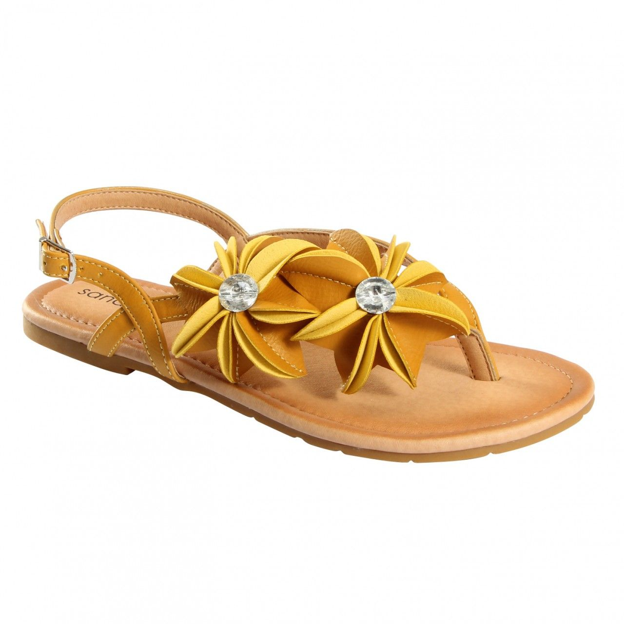 Flat sandals - Fatone Floral Ornament Flat Sandal