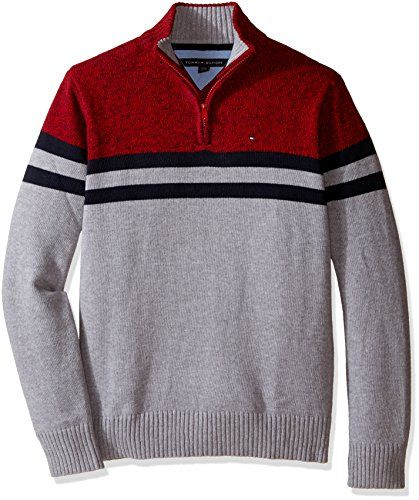 eb8518bb Tommy Hilfiger Little Boys Connor Half Zip Sweater, Grey Heather - #boys # sweater