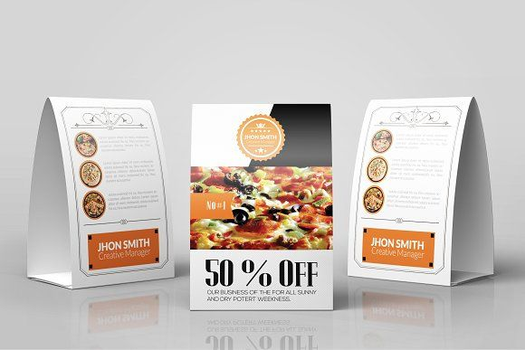 Restaurant Table Tent Template | Table Tents And Tents