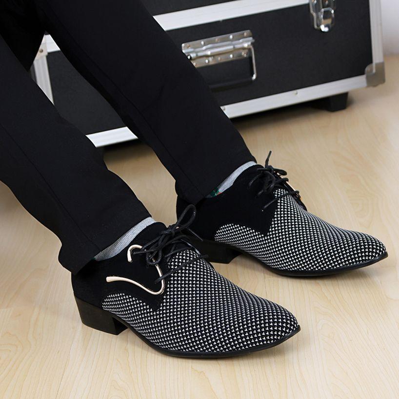 MONSTCELER 2017 Hombres Británicos Señalaron Los Zapatos de Vestir ...