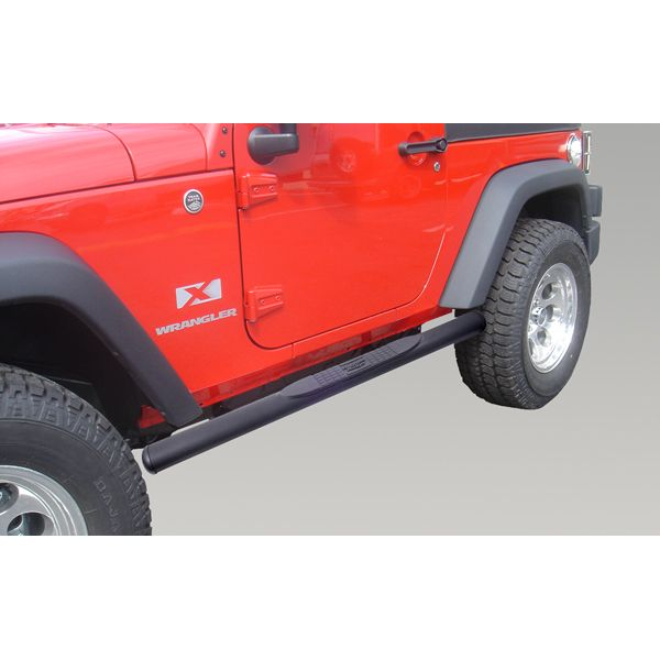 The PreOwned Jeep Store   4 1/4 Inch Oval Tube Side Steps,