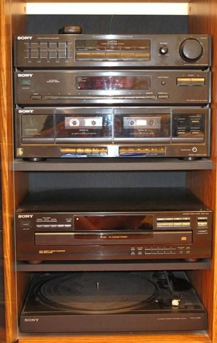 Sony Audio Tower Entertainment System: 5 Band Graphic