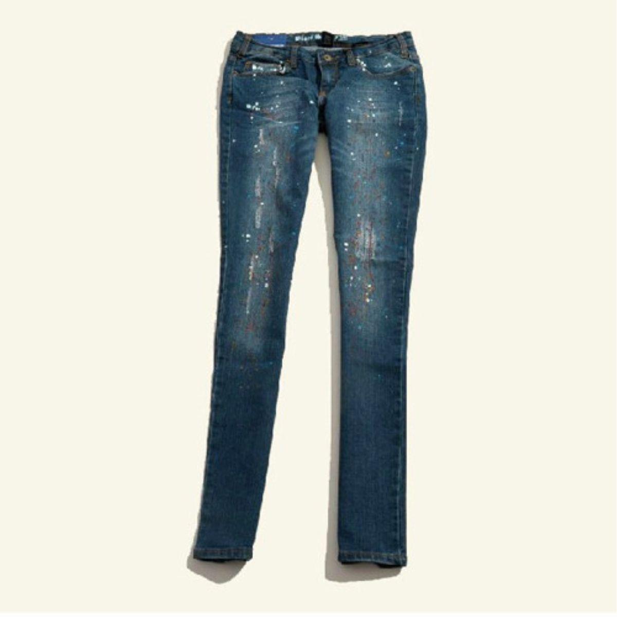 #Skinny Colorful Dots Low Waist Pockets Jeans Pants  women jean #2dayslook #jean style #jeanfashion  www.2dayslook.com
