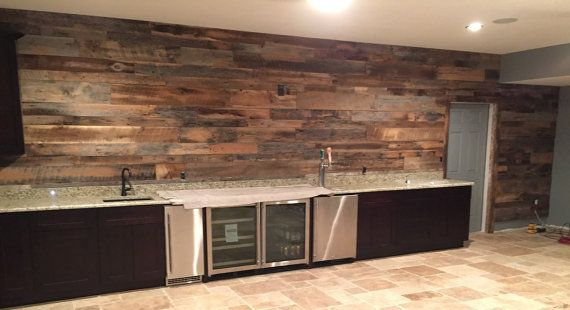 Reclaimed Wood Wall Kitchen